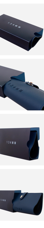 일삼사엠엠(134MM) 스퀘어 메탈 티타늄 블랙실버 M000853